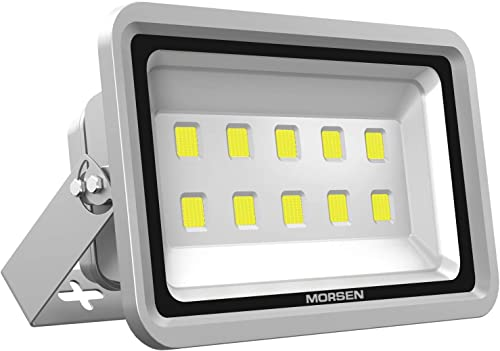 MORSEN LED Flood Light 500W, IP65 Waterproof 50000lm Super Bright Sercurity Light for Indoor Outdoor Lighting Daylight 6000K for Parking Lot, Garden, Basketball Football Court and Commercial Lighting