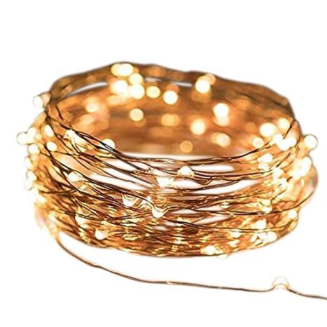 Weihnachtsbeleuchtung Tropfen.Micro Led Lichterkette Warmweiß Draht Lichterkette Leuchtdraht Mit Mini Tropfen Auf Silberdraht Weihnachtsbeleuchtung 20er Led 1m Batterie