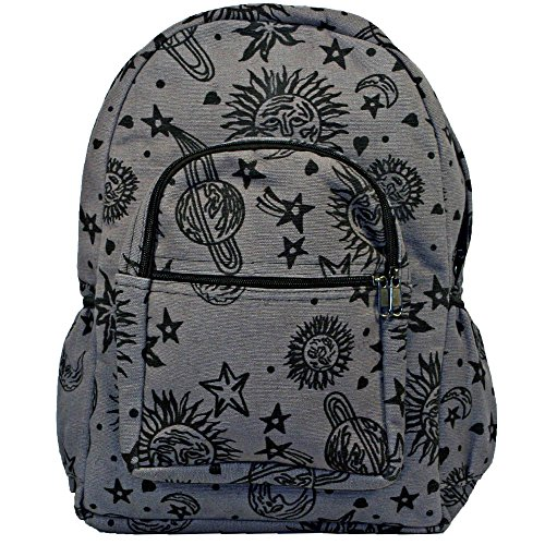 Dominion Sun Moon Planets and Stars Celestial Hippie Boho Backpack