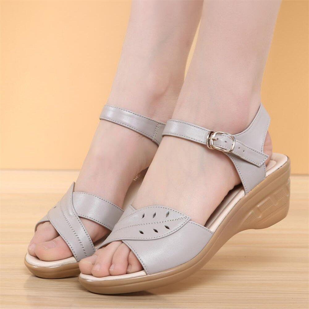 Sandalen weiblichen Mitte Mitte weiblichen mit Hang mit Schuhen Grau b0a972