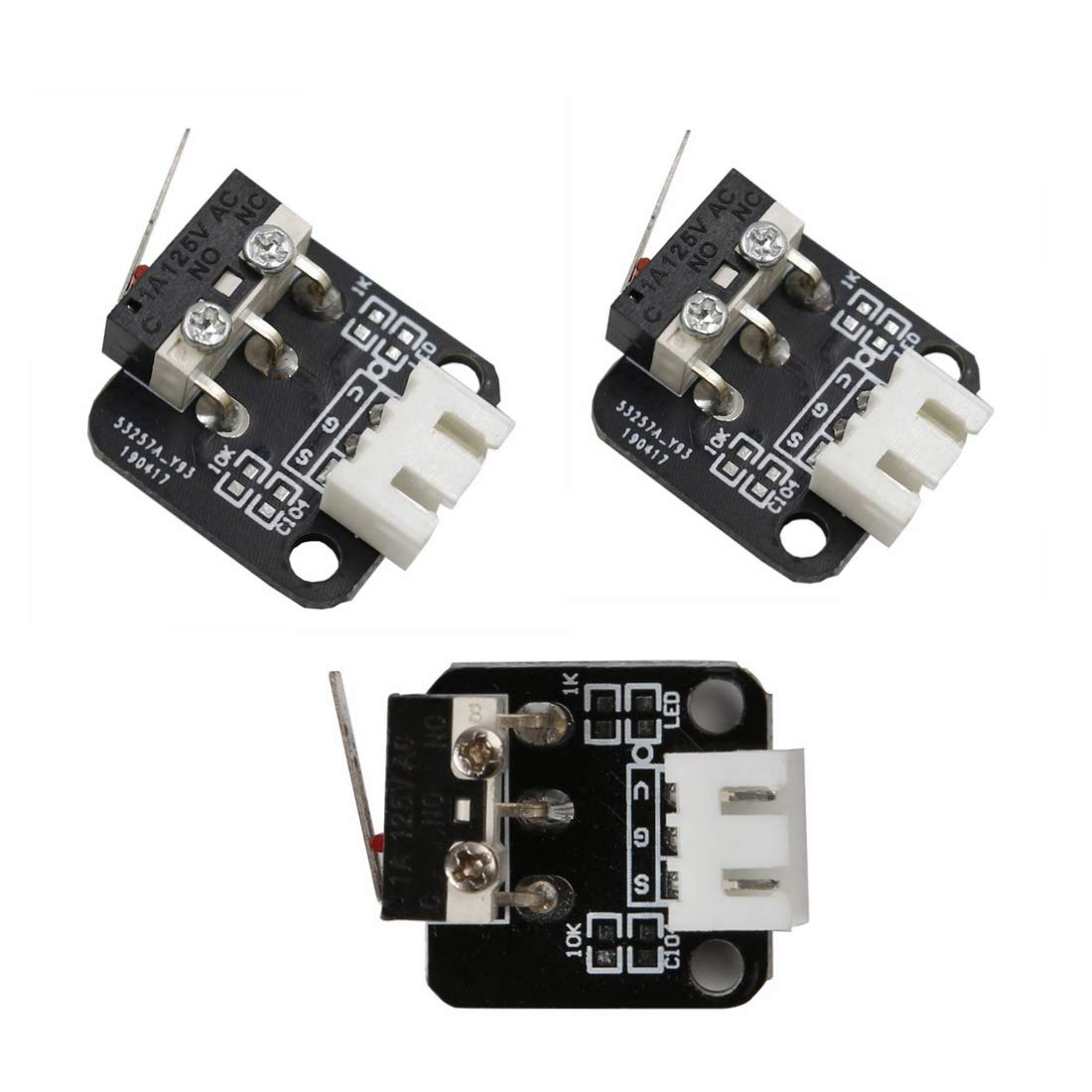 5Pcs 3D Printer X//Y//Z Axis End Stop Limit Switch Easy to Use for CR-10 Ender-3