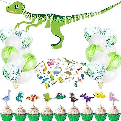 Amazon.com: Dinosaur suministros de decoración para fiesta ...