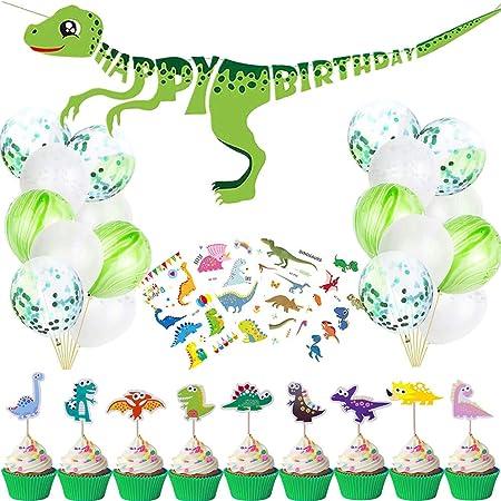 Decoración de fiesta de dinosaurio pequeño - Cartel de feliz ...