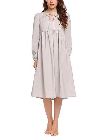 14adba5c98 Acecor Women s Short Robe Knee Length Stripes Lightweight Duster Housecoat(S -XXL)