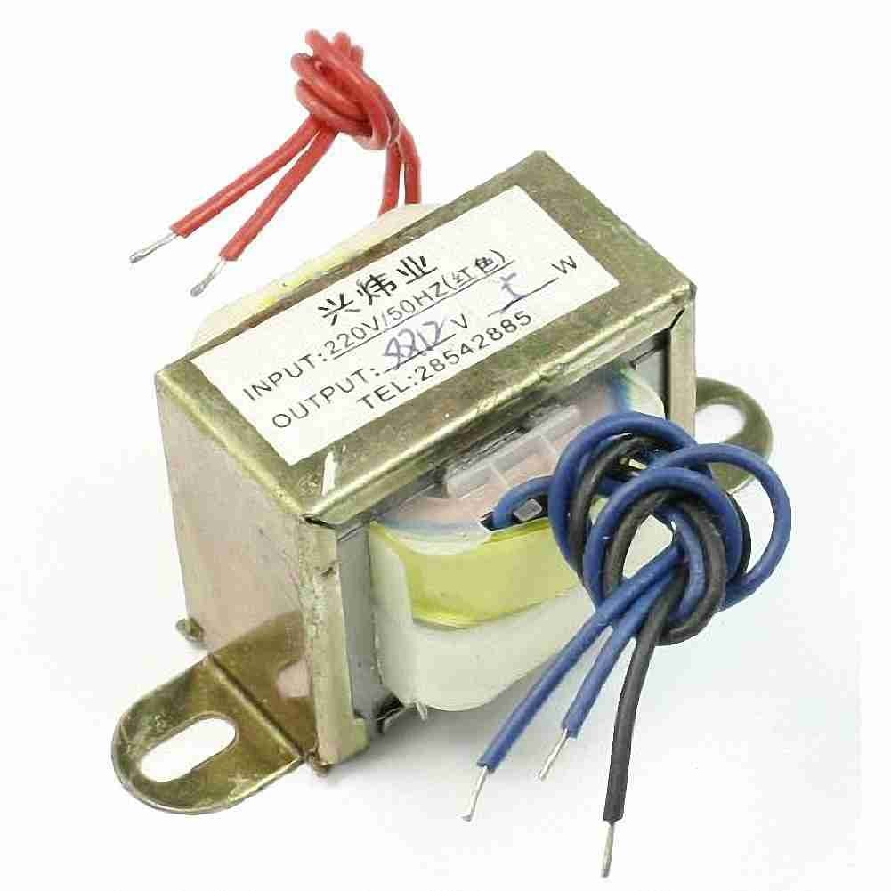Move&Moving(TM) 220V 50Hz Input to 12V 5W Output EI Core Double Phase Power Transformer CE03922