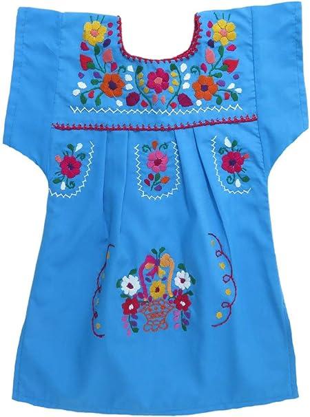 Amazon.com: Mexican Clothing Co - Vestido mexicano ...