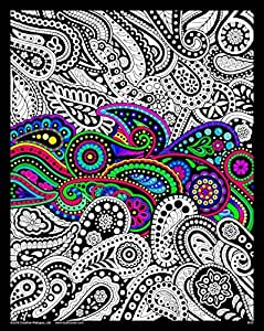 Amazon.com: Stuff2Color Paisley - 16x20 Fuzzy Velvet Coloring Poster ...