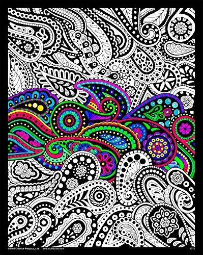 Amazon.com: Paisley - 16x20 Fuzzy Velvet Coloring Poster: Toys & Games