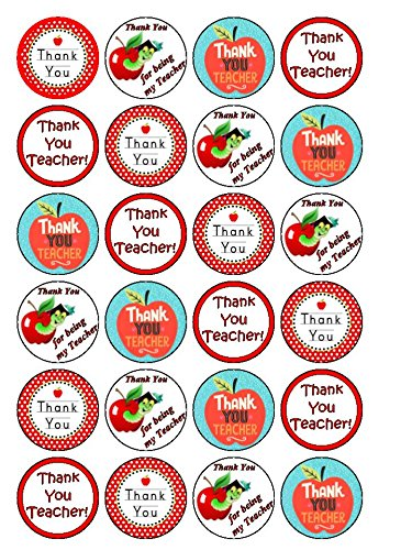 24 x Thank You Teacher! Cupcake Cake Toppers coyote