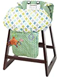 Nuby 2-in-1 Shopping Cart Cover High Chair Cover, High Chair Cushion, Baby Grocery Cart Cover, Infant High Chair Cover, Safety Harness, Cart Cover, Toddler, Universal Size, Essentials Pocket