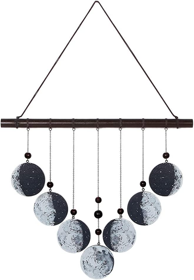 Circe Cottage Wood Moon wall decor-bohemian decor-Moon phase wall hanging is perfect for your witchy, boho,astrology decor.This wall art brings a unique and mystic touch to your Bedroom,Living Room