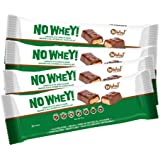 No Whey Foods - Chocolate Candy Nougat and Caramel Bars (4 Pack) - Vegan, Dairy Free, Peanut Free, Nut Free, Soy Free…