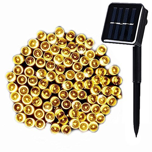 WishWorld 200LED Solar String Lights,72ft 8Mode Waterproof Fairy Lights Decorative Lighting for Garden, Outdoor, Fence, Lawn and Holiday Decorations(Warm White)