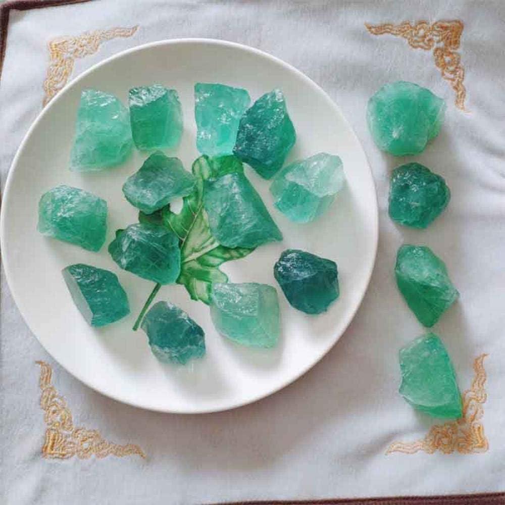 SDJH Cristales minerales Verdes Piedra Piedras Preciosas Cristales de Cuarzo Naturales Decoración de Piedra Decorativa para el hogar Artificial, Verde 1 Piezas