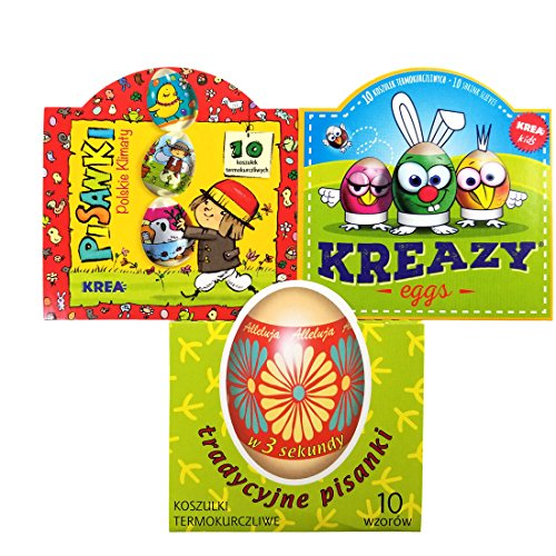 30 Easter Egg Wraps / Sleeves - Easter Wraps (Kreazy,Traditional & ()
