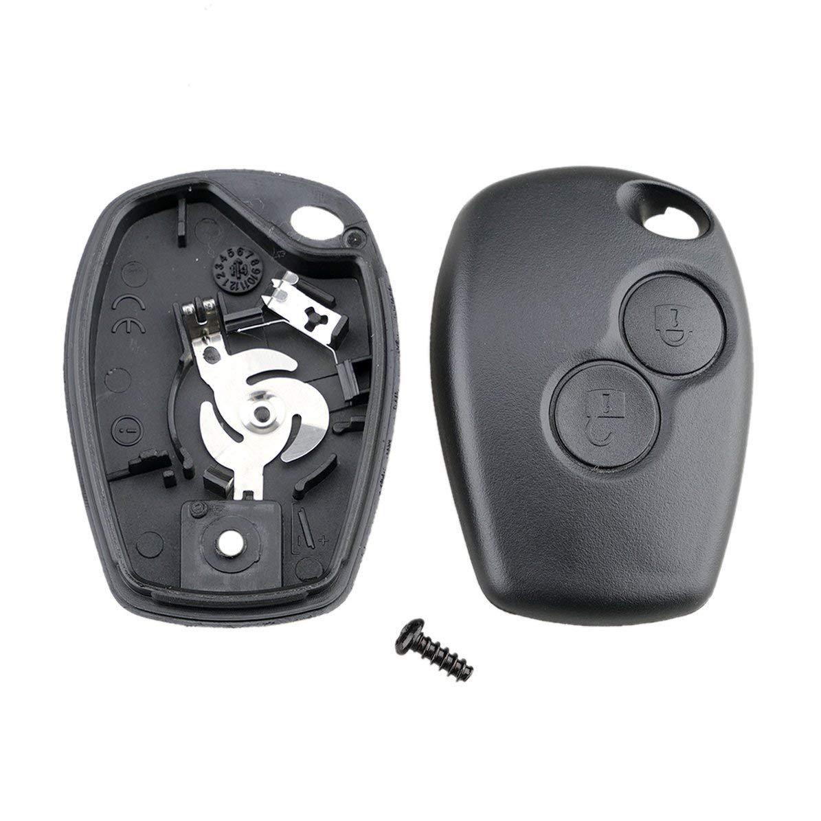 2 tasti caso chiave della copertura della cassa del fob dellautomobile di telecomando Fob vuoto per Renault Dacia Modus Clio 3 Twingo Kangoo 2 nessun logo
