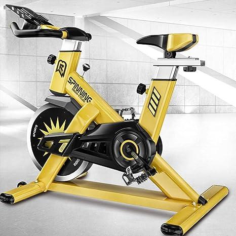 Bicicleta de ejercicio de alta resistencia del volante de transmisión del cinturón cubierta ciclo de la bici con el monitor LCD Inicio Cardio entrenamiento bicicleta estacionaria Silencio cubierta: Amazon.es: Deportes y aire