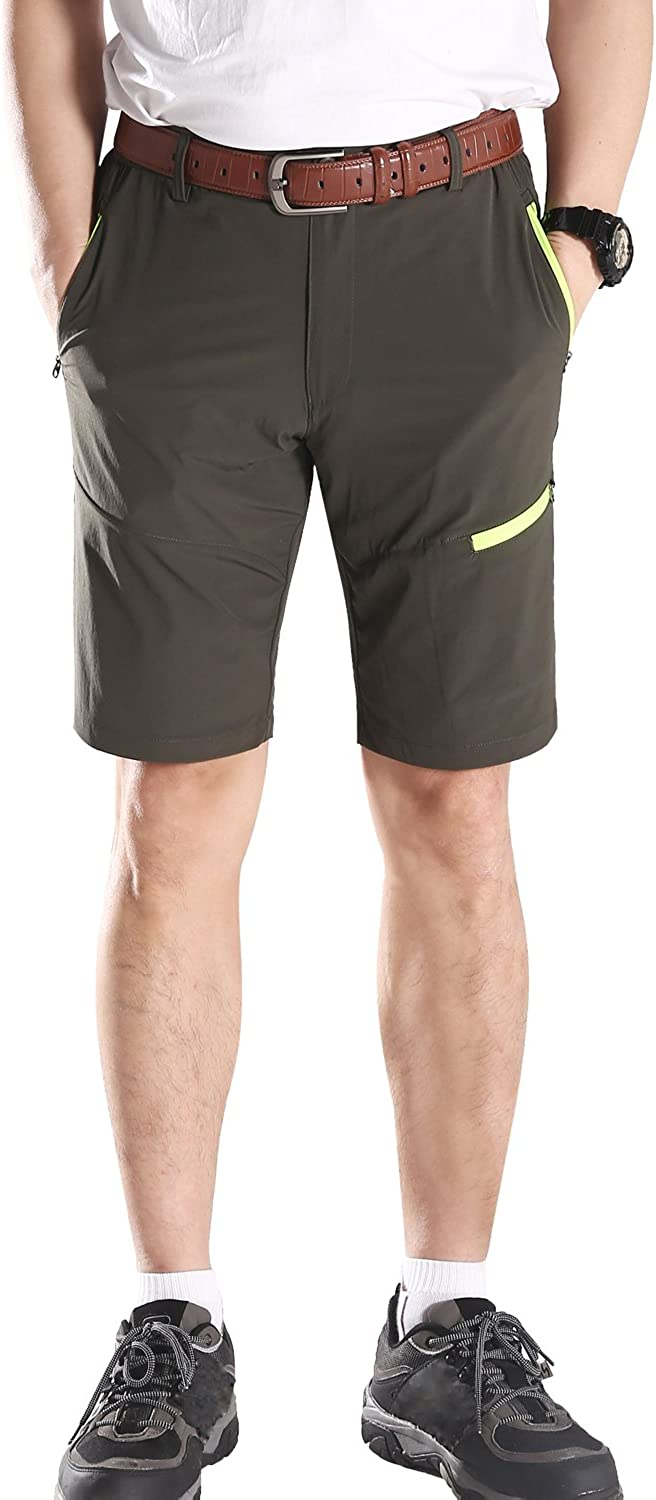 Mr.Stream Stretch Mens Walking Quick Drying Hiking Summer Action Shorts