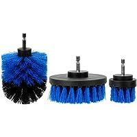 NOPNOG Drill Scrubber Brush Kit, auto detaillering reinigingsborstel, voor badkuip/boot/tegels, set van 3 (blauw)