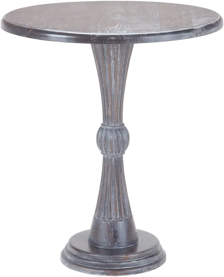 Sterling Home Modern Hour Side Heritage Grey Dark Stain accent table, Gray