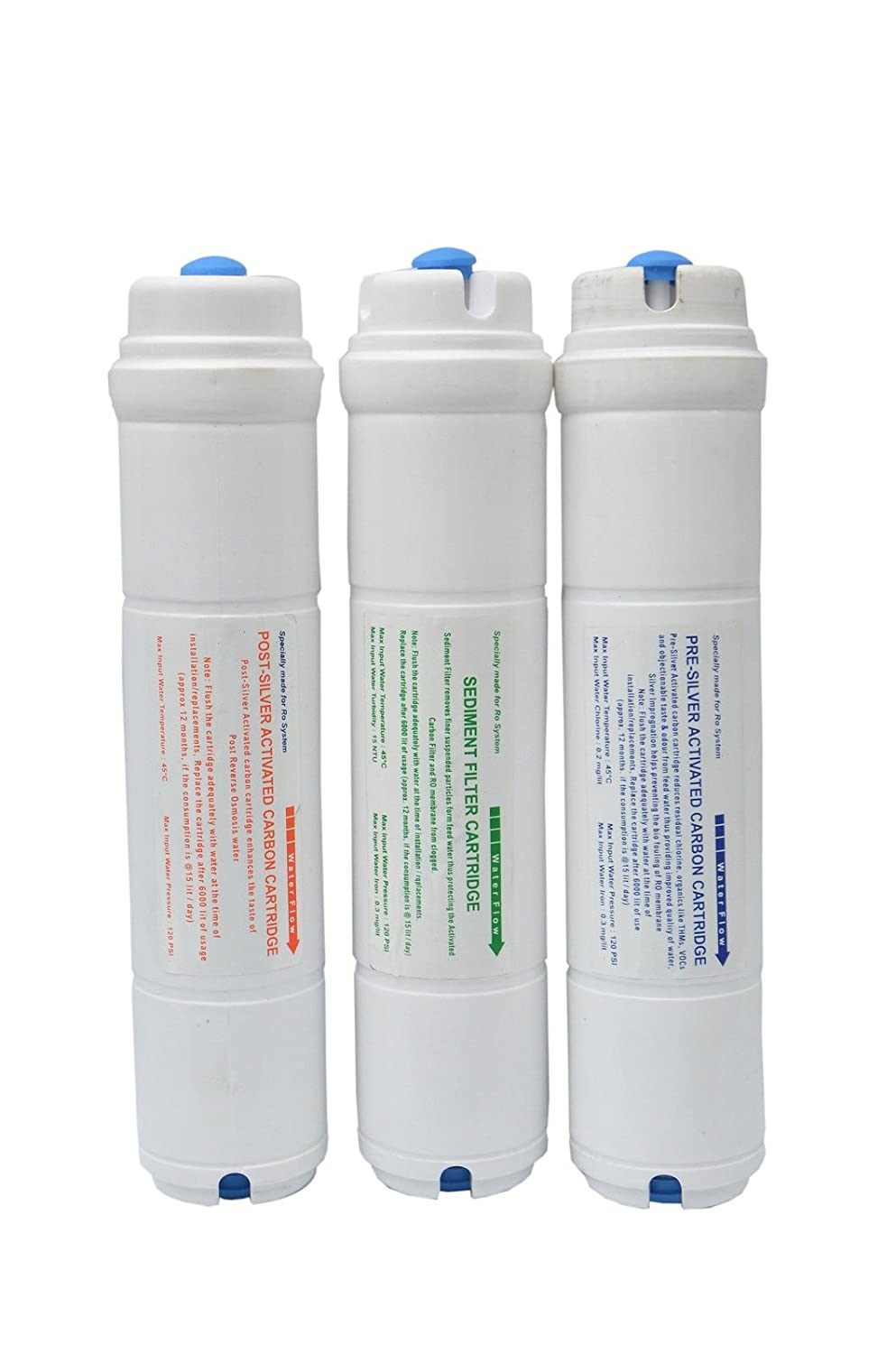 XISOM Polycarbonate Carbon/Sediment Filters Set for Aquaguard Eureka