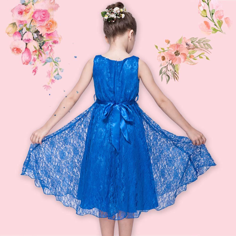 Lserver Elegant Robe Enfant Fille De Mariage Dhonneur Soiree Ceremonie Dentelle Noble Col V Robes Vetements Sou L Jp