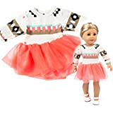 Coersd Doll Accessory Clothes Beautiful Yarn Dress for 18 Inch American Girl's Toy