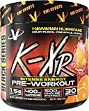 VMI Sports K-XR Pre-Workout Supplement for Intense Energy, Hawaiian Hurricane, Muscle Builder for Extreme Pumps, Enhanced Focus, Creatine Free, Endurance, Strength and Power Pre-Workout Powder