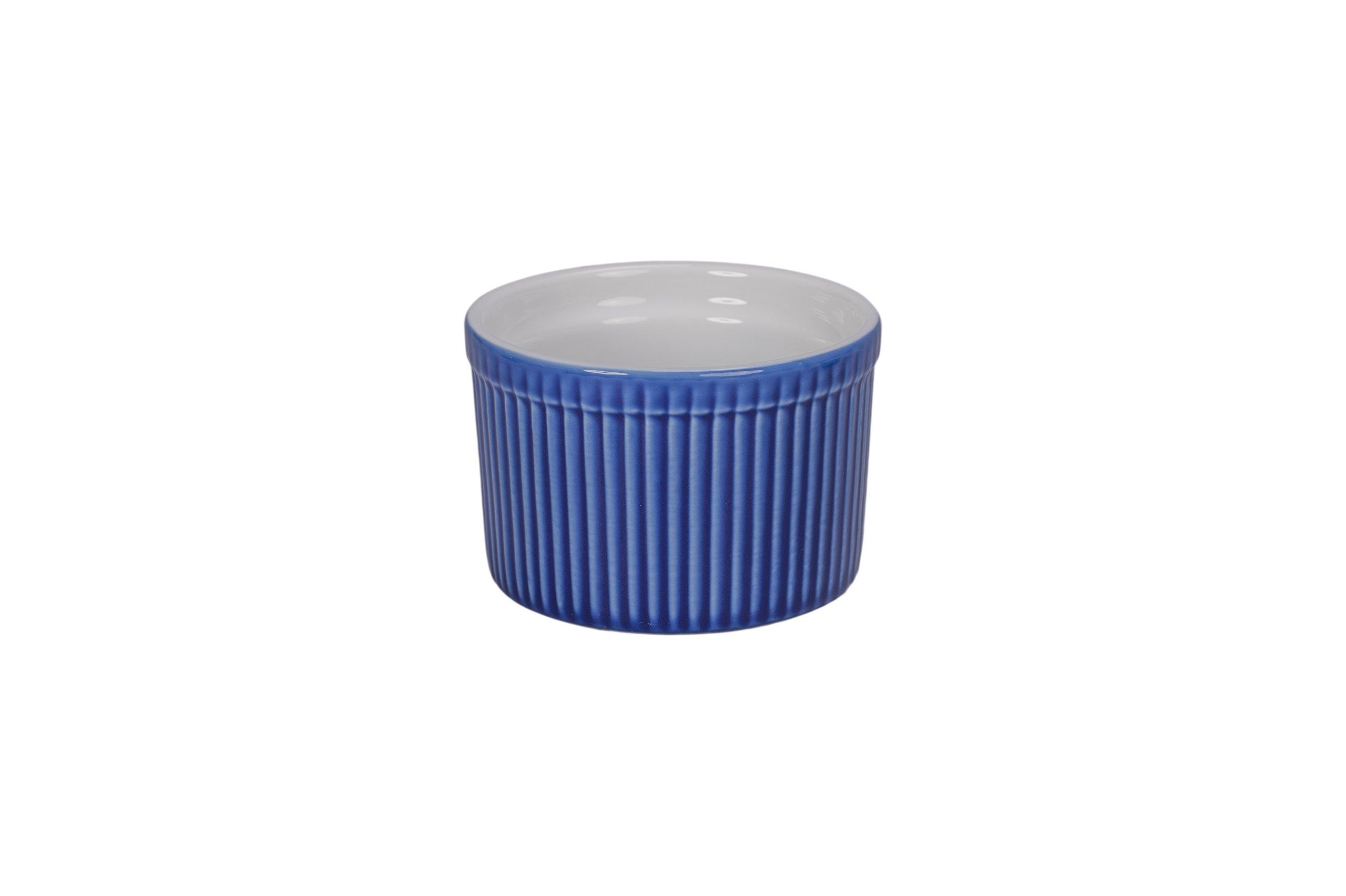 BIA Cordon Bleu 900021+3091S2SIOC Bakeware Souffle Dish, Blue/White