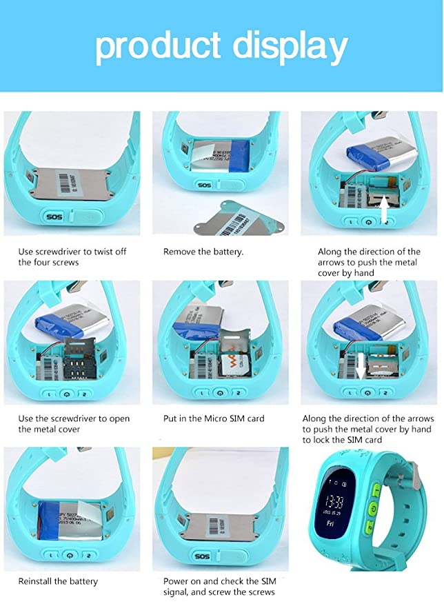 Amazon.com: LY Ant Tracker Smart reloj teléfono para ...
