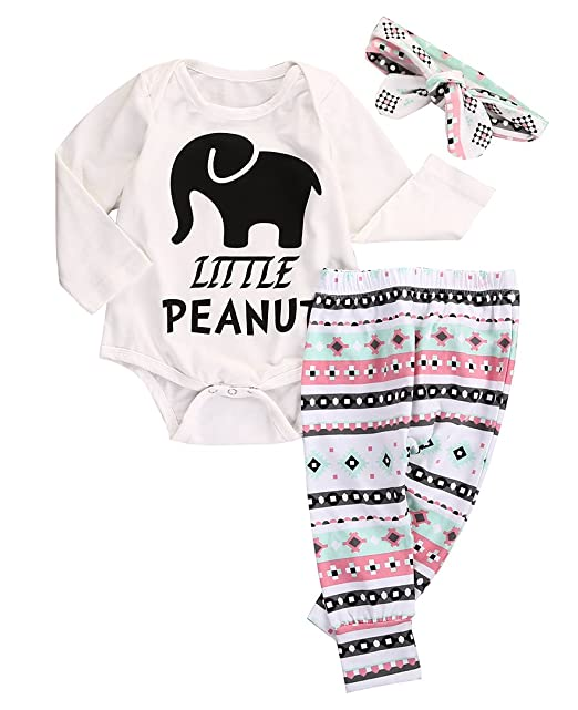 Top Amazon.com: Newborn Infant Baby Boy Girl Elephant Headband+Romper+  NQ84