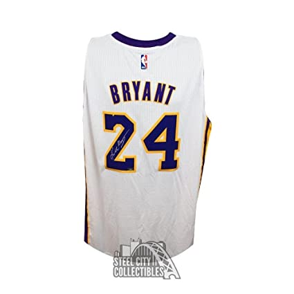 7cbc9647e43a Image Unavailable. Image not available for. Color  Kobe Bryant Signed Jersey  - Swingman White Panini ...