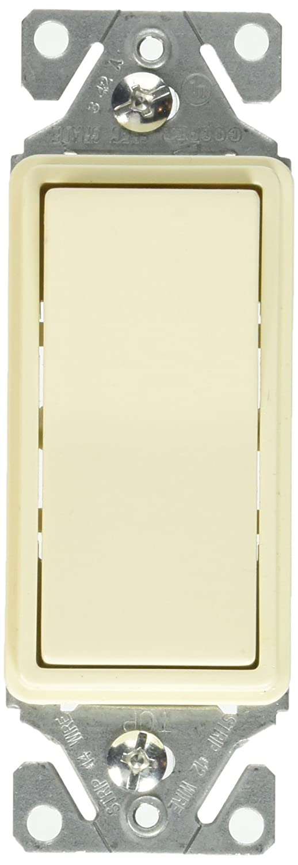 Cooper Wiring Devices 7511LA-BOX 15-Amp 120//277-volt Heavy-Duty Grade Single-Pole Decorator Lighted Switch Light Almond Color