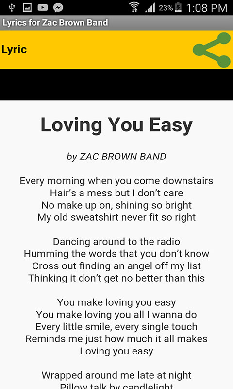 Lyrics for Zac Brown Band: Amazon ca: Appstore for Android