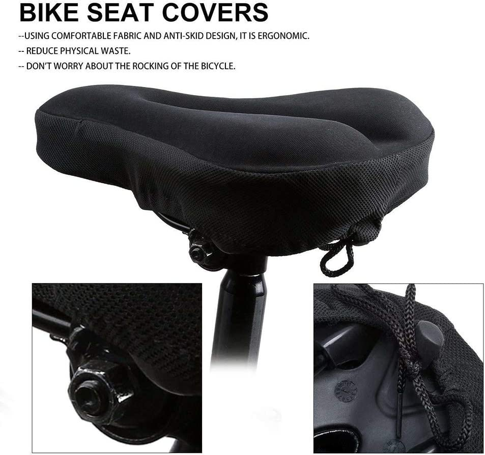 ghfcffdghrdshdfh Cycling Bicycle Silicone Non-Slip Saddle Seat Cover Cushion Soft Pad
