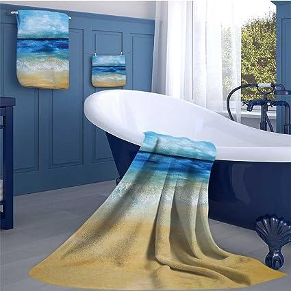 Amazoncom Alisoso Art Long Bathroom Accessories Set