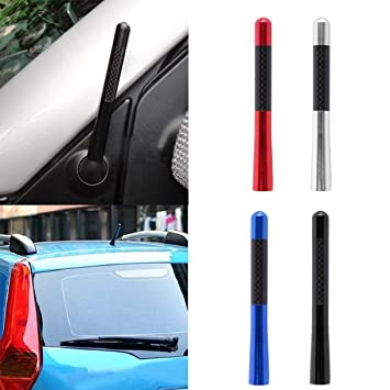Delicate Universal Antena Black Fiber Carbon Short Antenna Radio Car Aerial Antenna for Ford Focus for Toyota