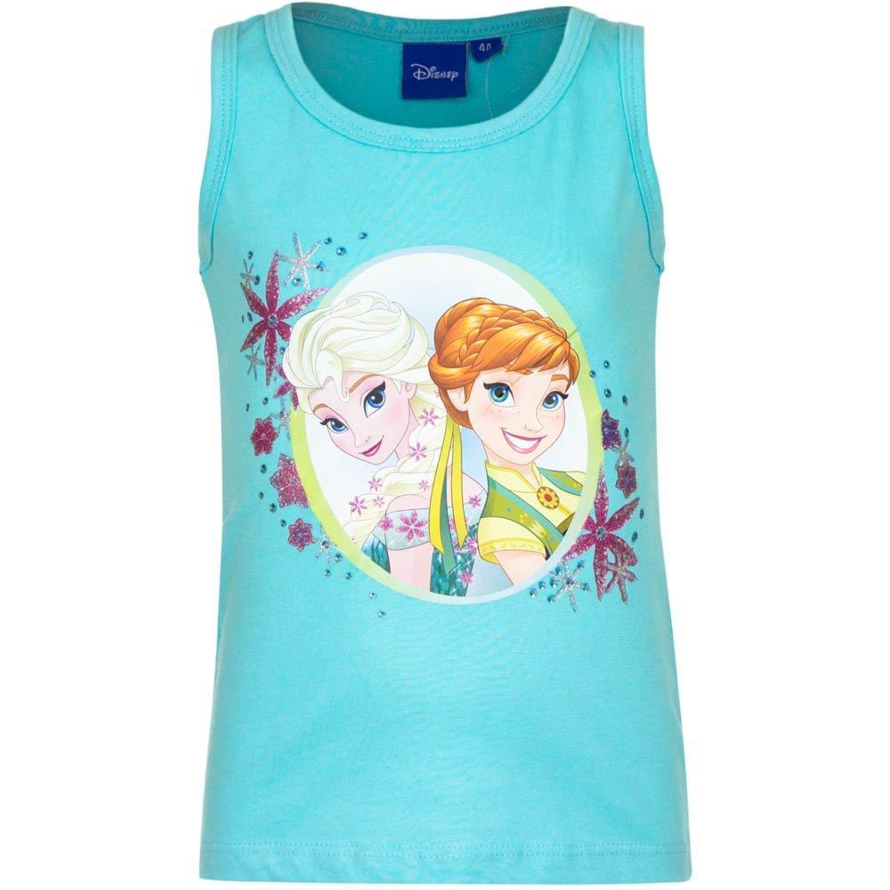 Disney Frozen Canottiera Top con Spalline a Vogatore novit/à Prodotto Originale EP1053 Elsa e Anna Bambina