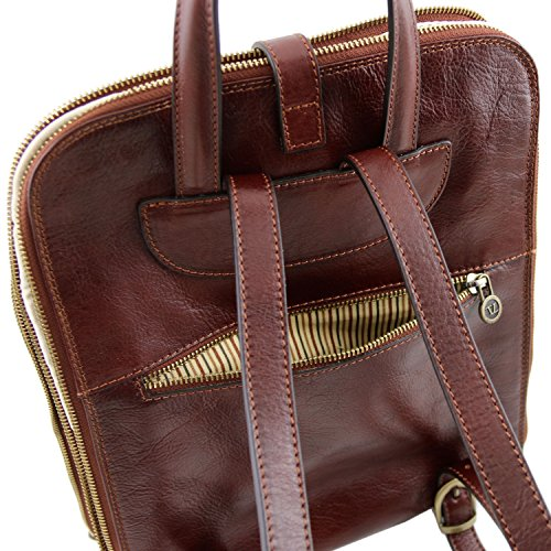 Leather Marrone A Spalla Donna Borsa Compact Tuscany ZdqwCRSR