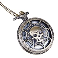 Pocket Watch Quartz Watch Retro Detachable Chain Mechanical Pocket Watch Fully Automatic Flip Watch for Gril Boy Women Men- Assorted Color