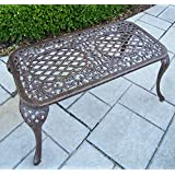 "Oakland Living Royal Cast Aluminum Coffee Cocktail Table, 35""x 18"", Antique Bronze"