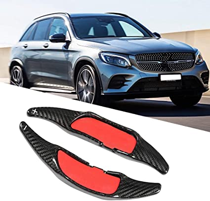 Prolunga per cambio volante 1 coppia per Mercedes in vera fibra di carbonio Basage