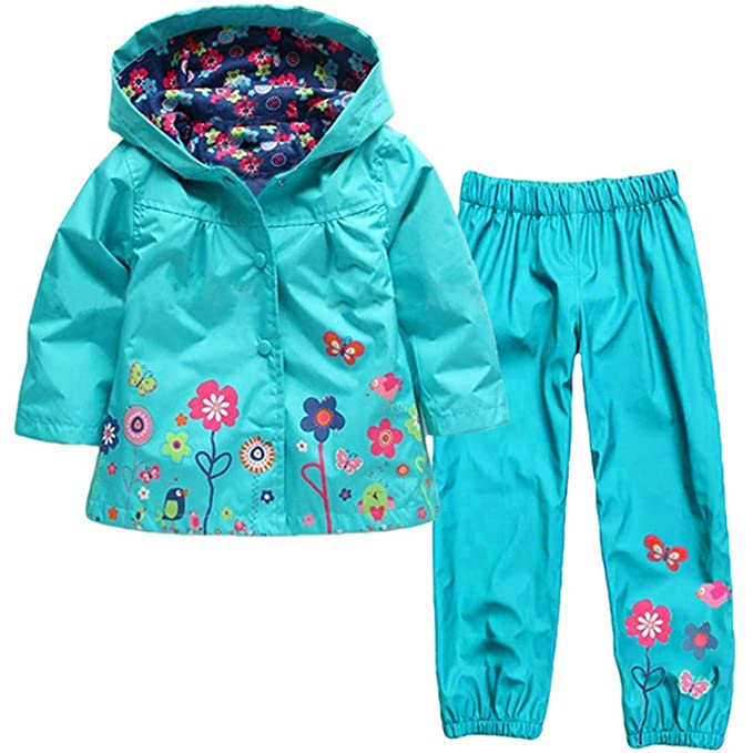Amazon.com: Fulision Little Girl Child Cute Flower Hooded ...