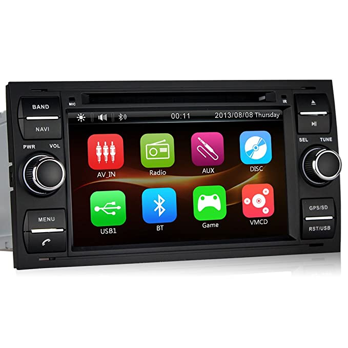 Pumpkin 7 pulgadas 2 din radio de coche Navegación GPS para Ford Soporta Bluetooth dashcam iPhone