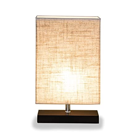 Zeefo simple table lamp retro solid wood and fabric shade style zeefo simple table lamp retro solid wood and fabric shade style relax lighting for bedroom mozeypictures Gallery