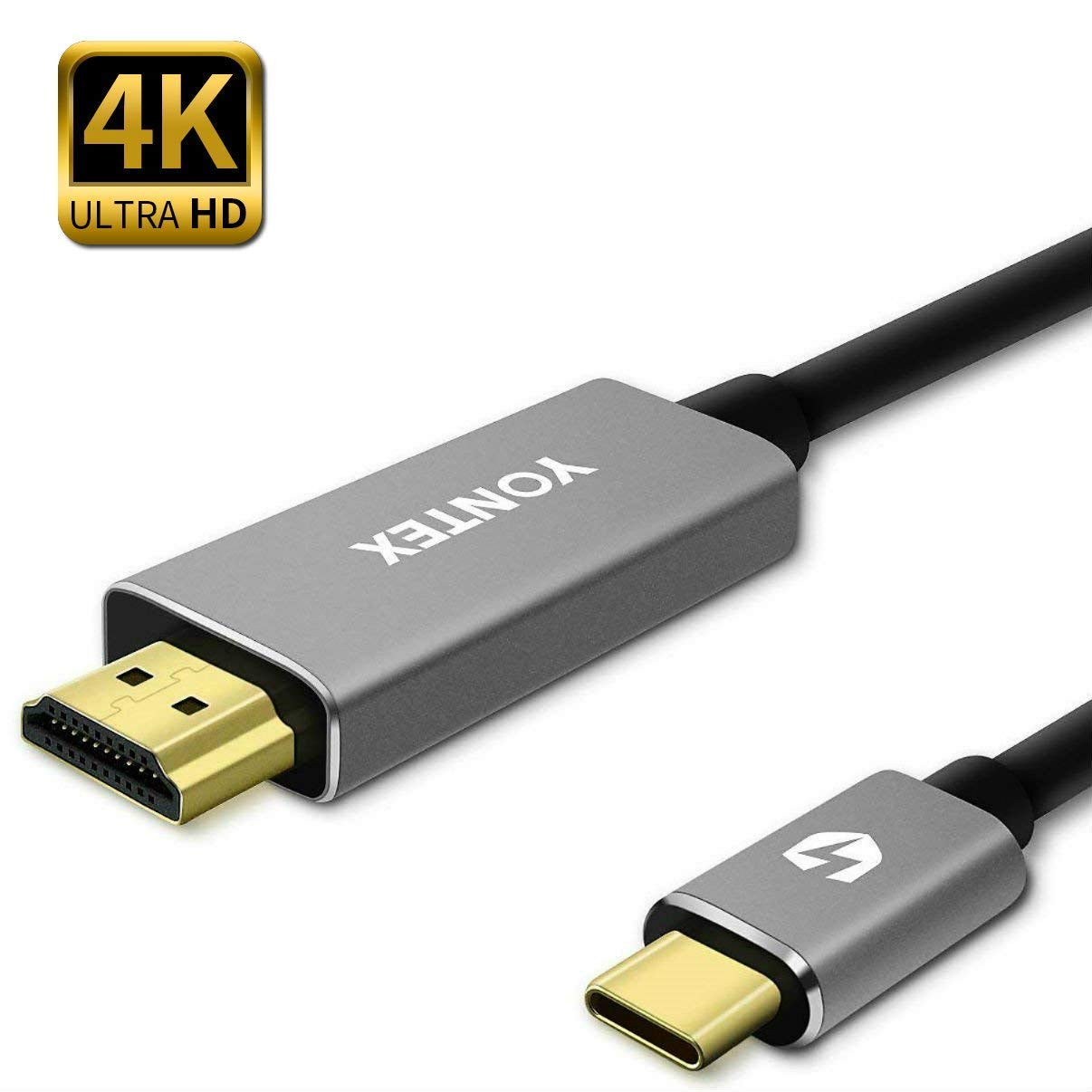 USB C to HDMI Cable 6ft, 4K 60Hz USB 3.1 Type C Male (Thunderbolt 3 Compatible) to HDMI Cable The Best for 2016 MacBook Pro, 2015 MacBook, ChromeBook YONTEX YT-CB-HDMI