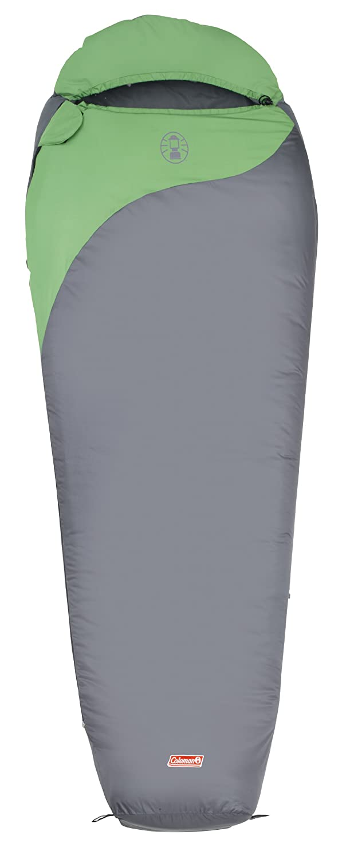 Coleman 2000009574 Biker - Saco de dormir (220 x 80/55 cm), color gris y verde: Amazon.es: Deportes y aire libre