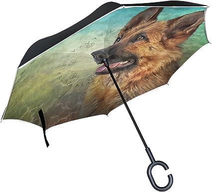 Mydaily Double Couche Inversé Parapluie Cars Envers