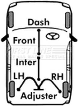 Rear Left Handbrake Cable Vauxhall Vivaro Renault Trafic Fits Nissan Primastar