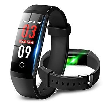 a30297df29 Amazon   【最新版】 スマートウォッチ 血圧計 心拍計 歩数計 多機能 ...